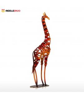 Metal Sculpture Iron braided Giraffe Home Furnishing Articles Handicrafts