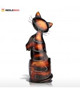 Cat shaped wine holder Wine shelf Metal sculpture