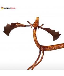 Raise Head Moose  Iron Sculpture Home Decoration Crafts Metal Animal Sculpture