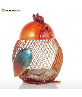Piggy Bank Metal Craft Animal Figurine Home Decor Gift