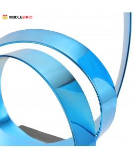 The Rising Ribbon Metal Sculpture Iron Modern Sculpture Abstract Sculpture Handicraft Decoration Ornament Blue
