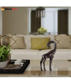 Giraffe Bronze Sculpture Lifelike Appearance Decorations Animal Sculpture Giraffe