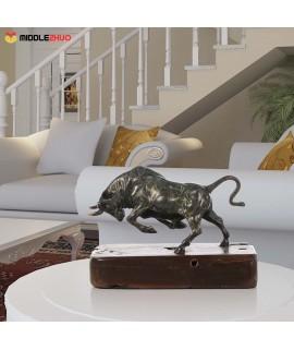 Unstoppable Cattle Bronze Handmade Bronze Sculpture Modern Art Home Decor