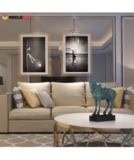 Chinese Horse Bronze Sculpture Elegant Modeling Chinese Characteristics Animal Horse