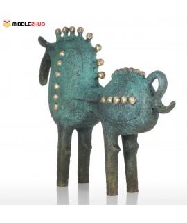 Exaggerative Horse Bronze Sculpture Abstract Design Decorations Modern Art Animal Sculpture Horse