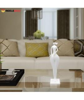 Hold Bird Girl   3D Printed Sculpture Home Decoration Elegant Modeling