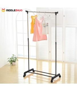 2pcs   Metal Adjustable Coat Clothes Garment Rolling Hanging Rack