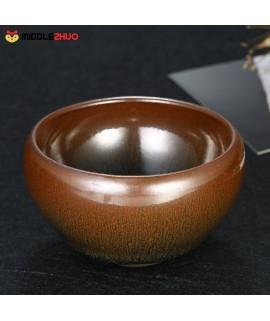 Chinese Kungfu Tea Cup Hare's Fur Temmoku Jianzhan Tea Cup Mini Tea Bowl Tenmoku Tea Cup Chinese National Arts and Crafts Chawan from Chinese Vintage Style Glaze Teaware