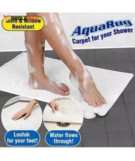 Bathroom Non-Slip White Shower Carpet