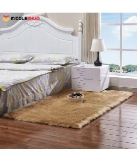 Long Plush Ultra Soft Fluffy Rugs Rectangle Shape Faux Sheepskin Wool Carpet Rug